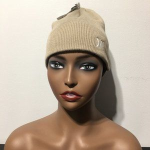 NEW Hurley Icon Staples Beanie One Size Beige